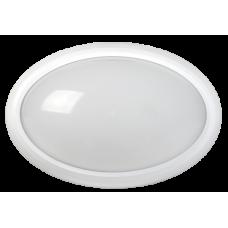 Светильник светодиодный ДПО 3040 12Вт 4500K IP54 овал пластик белый IEK LDPO0-3040-12-4500-K01