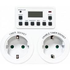 TM25 розетка с таймером 3500W/16A 230V (недельная) 23236