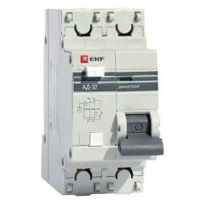 Дифференциальный автомат АД-32 1P+N 25А/10мА (хар. C, AC, электронный, защита 270В) 4,5кА EKF PROxima DA32-25-10-pro