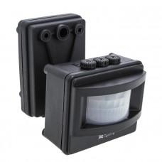 ИК датчик движения MS-01 черный на прожектор 1200Вт 120гр. до 12м IP44 EKF PROxima dd-ms-01-b