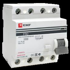 Устройство защитного отключения УЗО ВД-100 4P 16А/30мА (электронное) EKF PROxima elcb-4-16-30e-pro