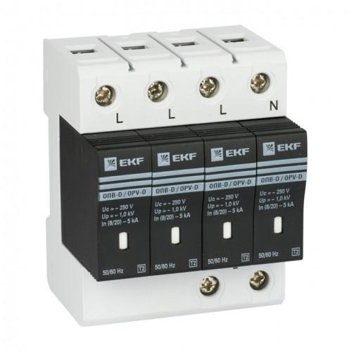 Ограничитель импульсных напряжений ОПВ-B/4P In 30кА 400В с сигн. EKF PROxima opv-b4