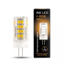 Лампа Gauss LED G4 AC185-265V 4W 2700K керамика 1/10/200 107307104