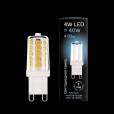 Лампа Gauss LED G9 AC185-265V 4W 410lm 4100K керамика 1/10/200 107309204