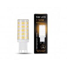 Лампа Gauss LED G9 AC185-265V 5W 2700K керамика 1/10/200 107309105