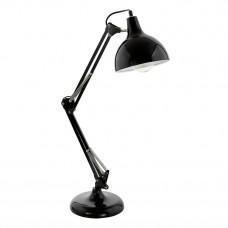 94697 Настольная лампа BORGILLIO, 1X60W (E27), основа O190, Н710, сталь, черный 94697