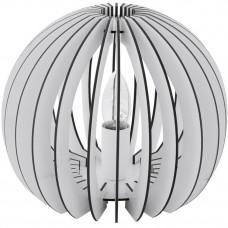94949 Настольная лампа COSSANO, 1x60W (E27), O260, H220, дерево, белый/пластик, белый 94949