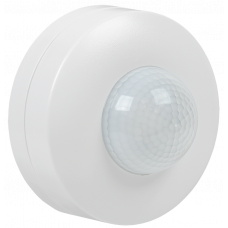 Датчик движения ДД 027 белый 1200Вт 360гр 12м IP20 IEK LDD11-027-1200-001