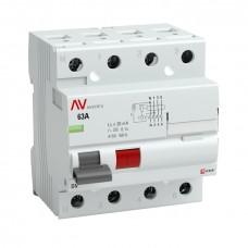Устройство защитного отключения DV 4P  63А/ 30мА (AC) EKF AVERES rccb-4-63-30-ac-av