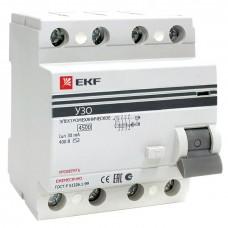 Устройство защитного отключения УЗО ВД-100 4P 100А/30мА (электромеханическое) EKF PROxima elcb-4-100-30-em-pro