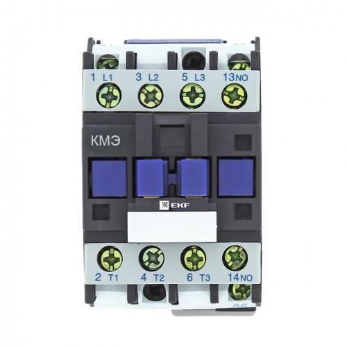 Контактор КМЭ малогабаритный 9А 400В 1NO EKF Basic ctr-s-9-400-basic
