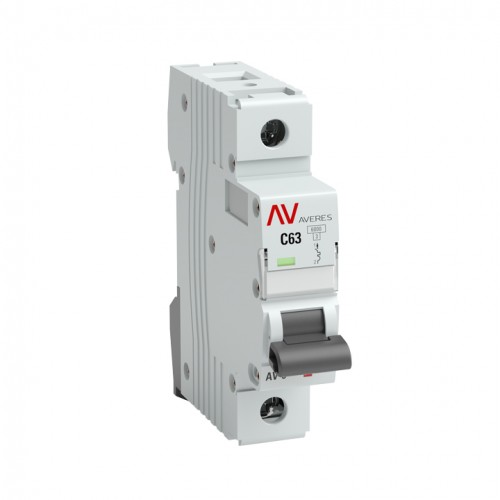 Выключатель автоматический AV-6 1P 63A (C) 6kA EKF AVERES mcb6-1-63C-av