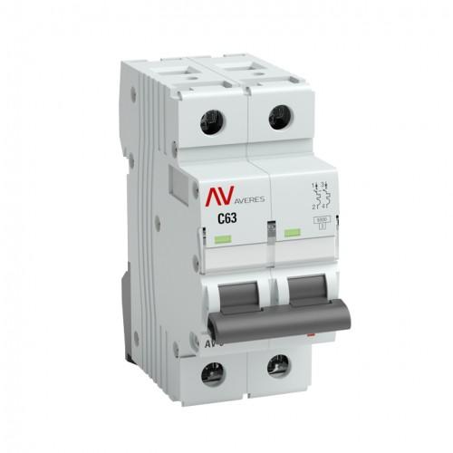 Выключатель автоматический AV-6 2P  6A (C) 6kA EKF AVERES mcb6-2-06C-av