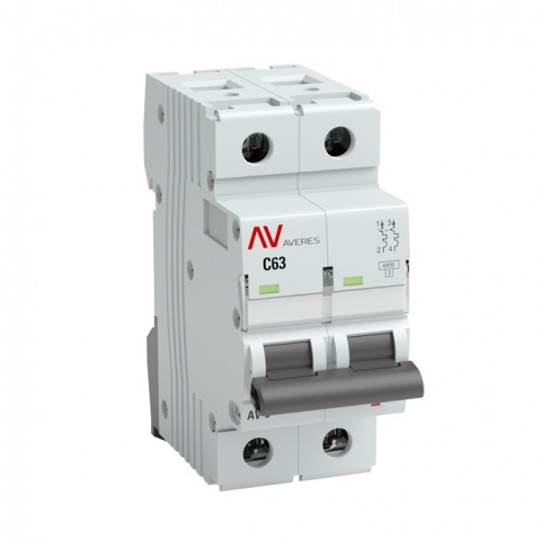 Выключатель автоматический AV-6 2P 16A (C) 6kA EKF AVERES mcb6-2-16C-av