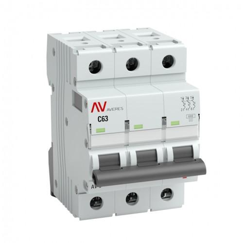 Выключатель автоматический AV-6 3P 63A (C) 6kA EKF AVERES mcb6-3-63C-av