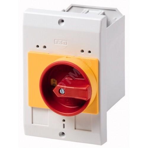 CI-K2-PKZ0-NA-GV  Изолированный корпус, ВхШхГ = 180x100x132 мм , для PKZM0 , + ручка , цвет красно-желтый 262682