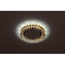DK LD20 TEA/WH Светильник ЭРА декор cо светодиодной подсветкой Gx53, прозрачный Б0028066