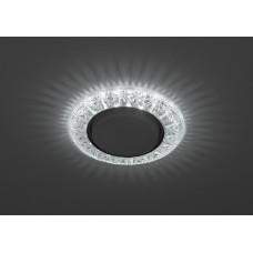 DK LD22 SL/WH Светильник ЭРА декор cо светодиодной подсветкой Gx53, прозрачный Б0029625