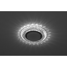 DK LD23 SL/WH Светильник ЭРА декор cо светодиодной подсветкой Gx53, прозрачный Б0029627