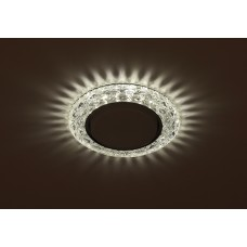 DK LD24 SL/WH Светильник ЭРА декор cо светодиодной подсветкой Gx53, прозрачный Б0029631