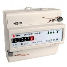 Счетчик электрической энергии СКАТ 301М/1 - 10(100) Ш Р EKF PROxima 30104P