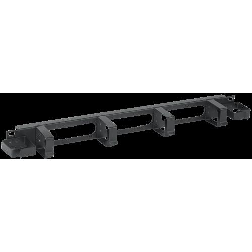 ITK Кабельный органайзер 1U 2 боковых горизонт. и 4 вертик. кольца, черный CO05-1M6R