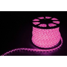 Дюралайт  LED 3WAY 50м квадр. 11х17мм 230V 72LED/м 2,88Вт/м, (2м/отрез), 2 аксесс., розовый/ LED-F3W 26336