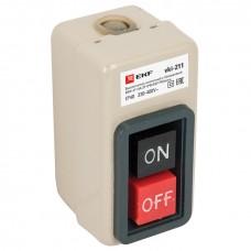 Выключатель кнопочный с блокировкой ВКИ-211 6А 3P IP40  EKF PROxima vki-211
