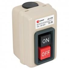 Выключатель кнопочный с блокировкой ВКИ-216 10А 3P IP40  EKF PROxima vki-216