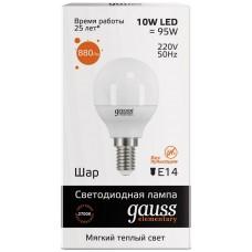 Лампа Gauss LED Elementary Globe 10W E14 2700K 53110