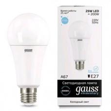 Лампа Gauss LED Elementary A67 25W E27 6500K 73235