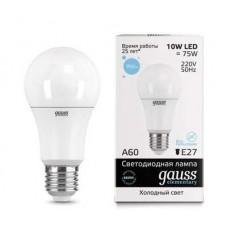 Лампа светодиодная Gauss LED Elementary A60 10W 6500K E27 23230