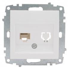 Милан Механизм розетки 1-местной RG-45 белый без рамки EKF PROxima EMK01-035-10