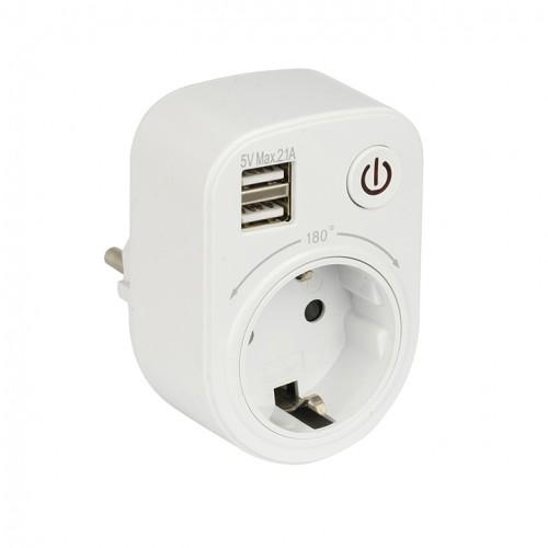 Розеточный блок с USB SB-01 EKF PROxima SB-01