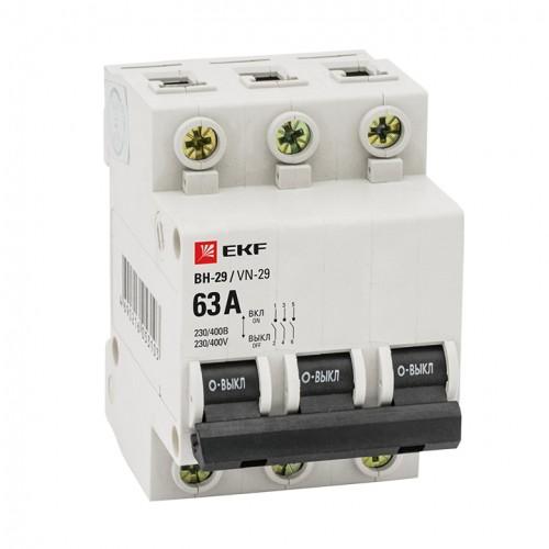 Выкл. нагрузки 3P 25А ВН-29 EKF Basic SL29-3-25-bas