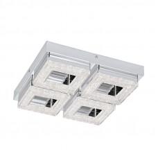 95657 Светодиодный  настенно-потолочный светильник FRADELO, 4х4W(LED), 280х280, сталь, хром/пластик 95657