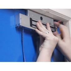 Монтаж и пусконаладка СКУД.  Монтаж замка электромагнитного 1057258