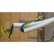 Монтаж и пусконаладка СКУД.  Прокладка кабеля в гофротрубе 1057265