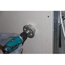 Электромонтажные работы.  Высверливание лунок под подрозетники в гипсокартоне (диаметр лунки 65 мм) 1057320