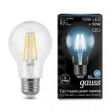 Лампа Gauss LED Filament A60 E27 10W 970lm 4100К 1/10/40 102802210
