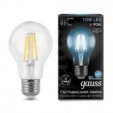Лампа Gauss LED Filament A60 E27 8W 2700К 1/10/40 102802108