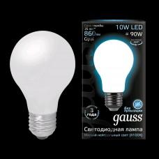 Лампа Gauss LED Filament A60 OPAL E27 10W 4100К 1/10/40 102202210