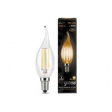 Лампа Gauss LED Filament Candle tailed E14 7W 2700К 1/10/50 104801107