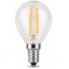 Лампа Gauss LED Filament Шар E14 7W 550lm 2700K 1/10/50 105801107