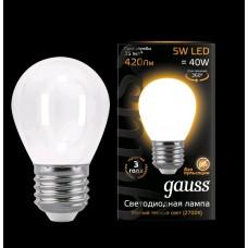 Лампа Gauss LED Filament Globe OPAL E27 5W 2700K 1/10/50 105202105