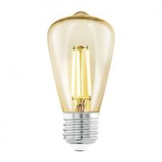 11553 Лампа светодиодная  филаментная ST48, 1х3,5W (E27), O48, L105, 2200K, 220lm, янтарь 11553