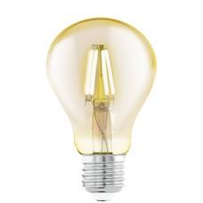 11555 Лампа светодиодная  филаментная A75, 1х4W (E27), O75, L106, 2200K, 220lm, янтарь 11555