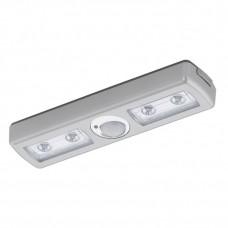 94686 Светодиодная подсветка BALIOLA, L300, пластик, серебряный, датч. движения, батарейки 94686