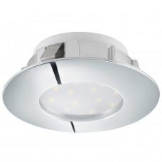 95818 Светодиодный встраиваемый светильник PINEDA, 1х6W(LED), O78, IP44, пластик, хром 95818