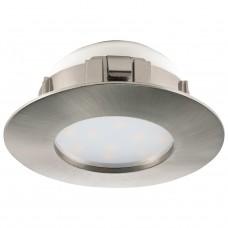 95819 Светодиодный встраиваемый светильник PINEDA, 1х6W(LED), O78, IP44, пластик, никель матовый 95819